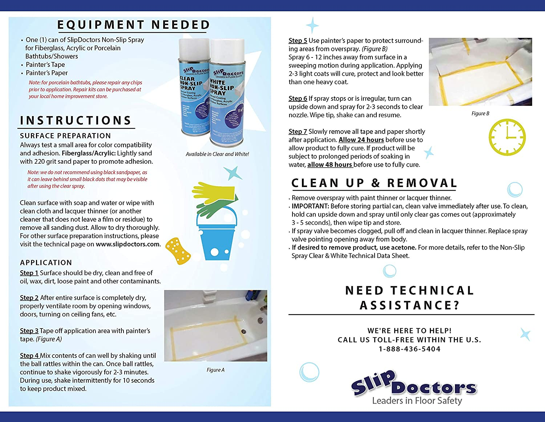Slipdoctors Non Slip Resistant Spray For Fiberglass Clear