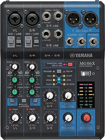 YAMAHA MG06X 6-Input Compact Stereo Mixer