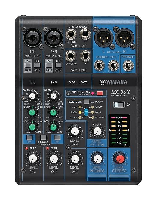 7 opinioni per Yamaha MG06X mixer professionale con effetti per live, karaoke, ecc..