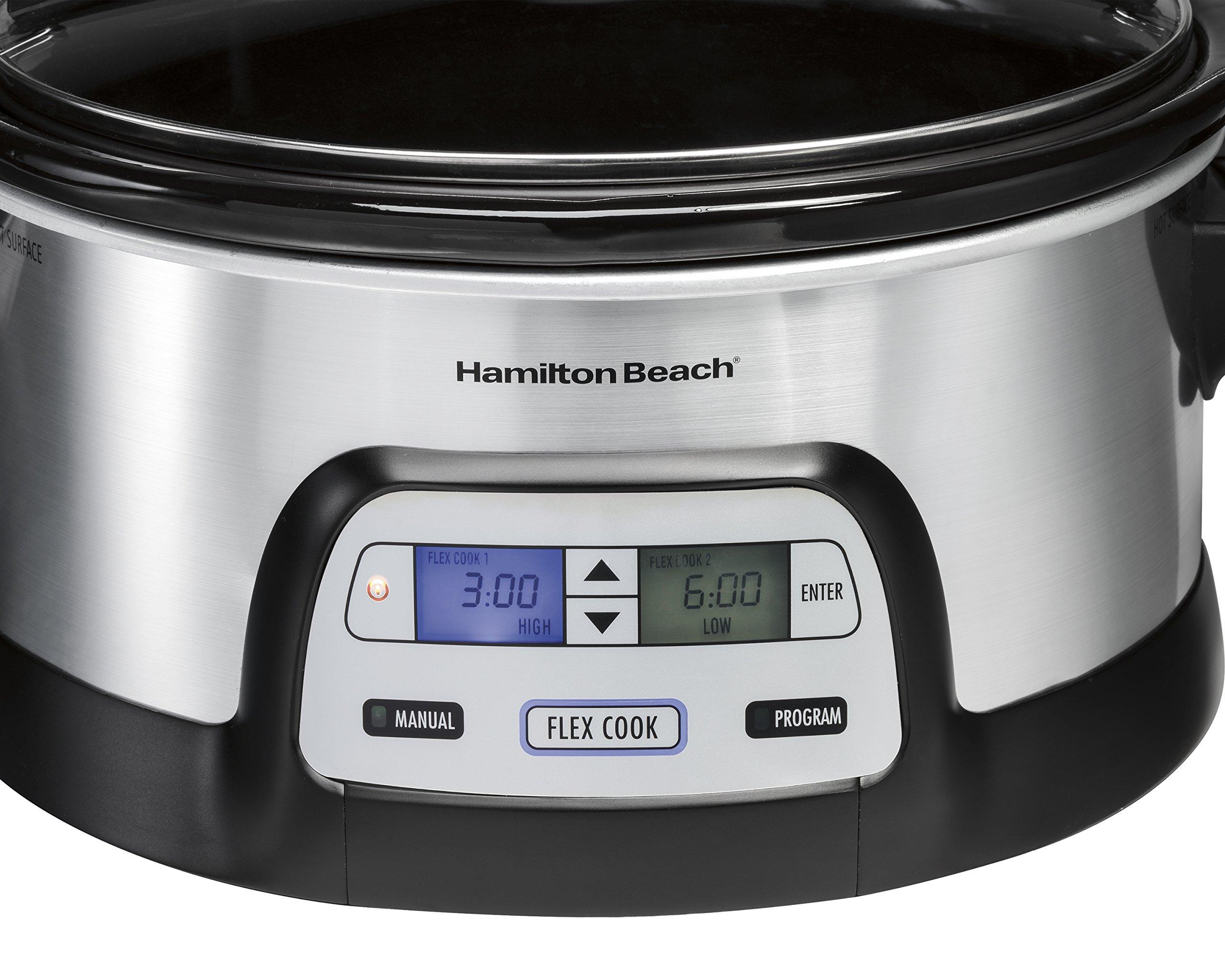 Hamilton Beach 33861 Programmable Slow Cooker, 6 Quart, Dual Digital Timer, Stainless Steel by Hamilton Beach (Image #3)