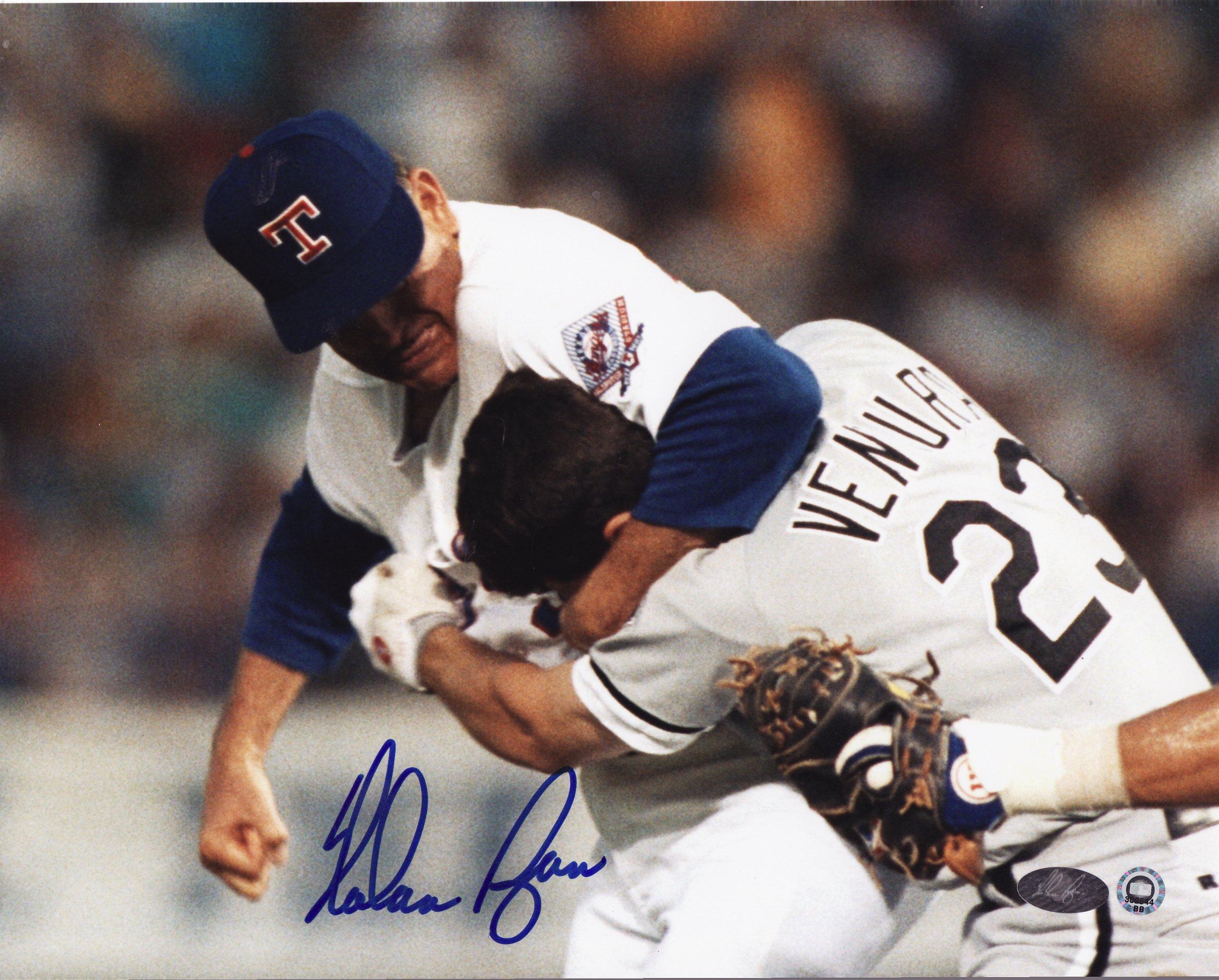 Nolan Ryan vs Ventura reprint 8x10 Photo Texas Rangers Mint Condition