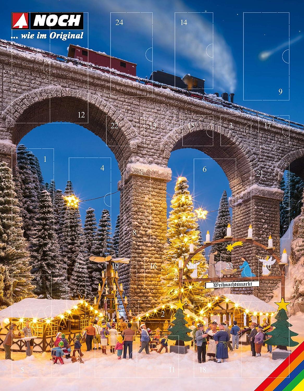 NOCH Bastel-Adventskalender Weihnachtsmarkt H0  65590