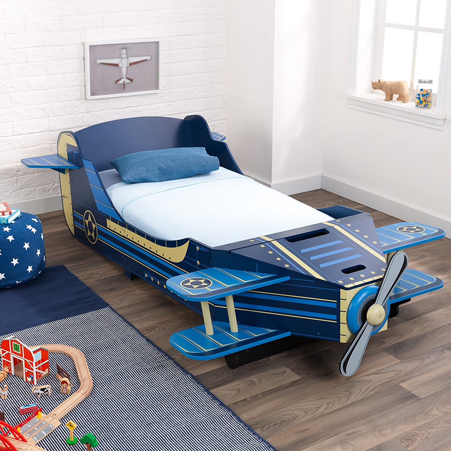 nice Kidkraft Airplane Toddler Bed Part - 4: Amazon.com