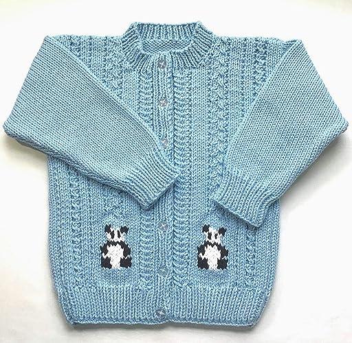 80a26be4c47 Amazon.com: Girls panda cardigan 5-6 years: Handmade
