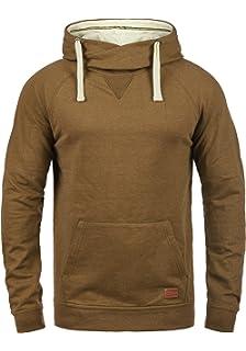 d1753de66875 Blend Sales Herren Kapuzenpullover Hoodie Pullover Mit Kapuze  Cross-Over-Kragen Und Fleece-