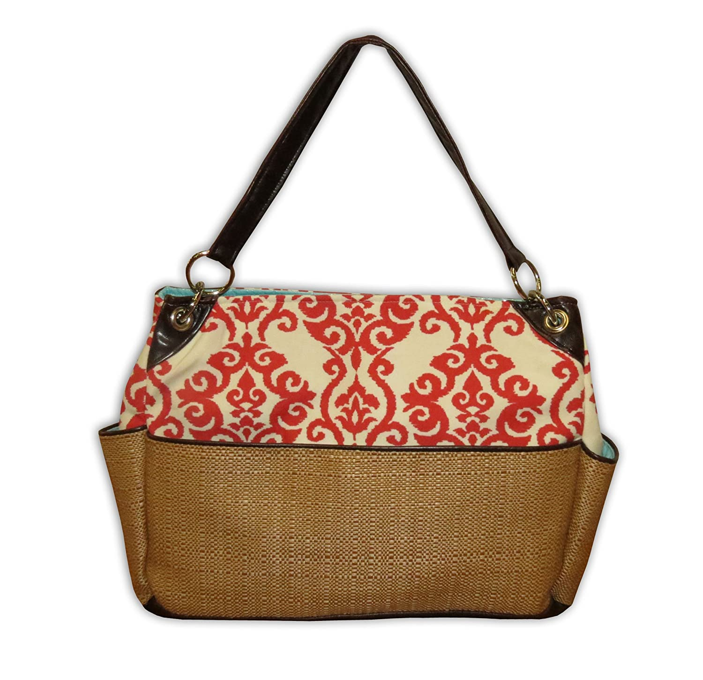 Amazon.com : Chic bolsa de pañales, Coral de la flor de lis ...