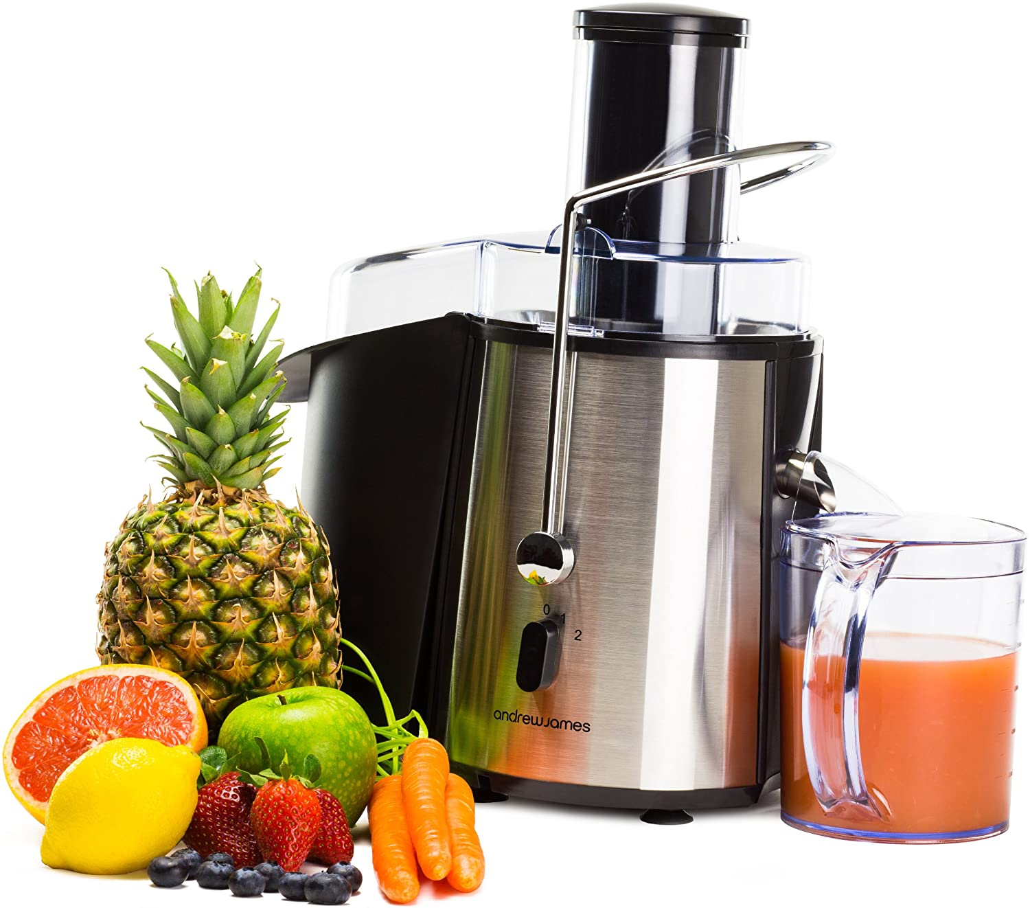 Andrew james professional 850w whole fruit power juicer, includes ...