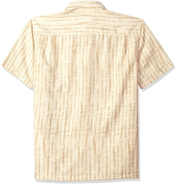 03f4cf8c Van Heusen Mens Big and Tall Oasis Printed Short Sleeve Shirt: Amazon.ca:  Clothing & Accessories