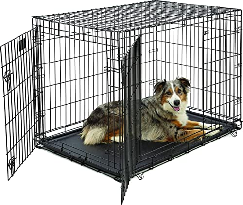 Life-Stages-LS-1642DD-Double-Door-Folding-Crate-for-Large-Dogs