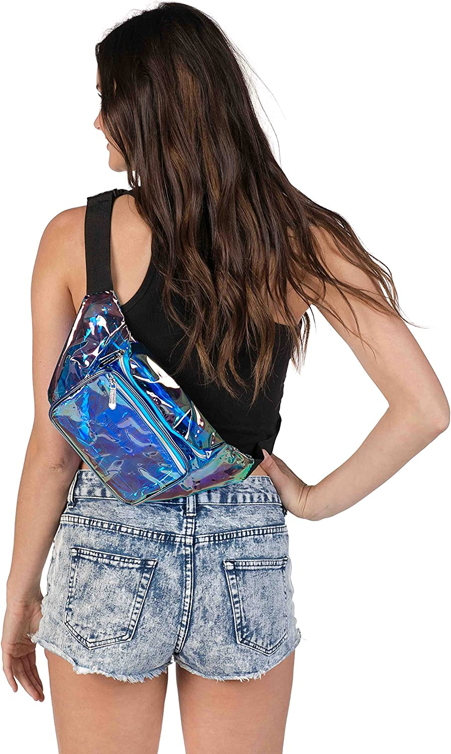 men Cute Fashion Waist Bag Belt Bags SoJourner Mermaid Rave Fanny Pack Packs for festival women Holographic Green
