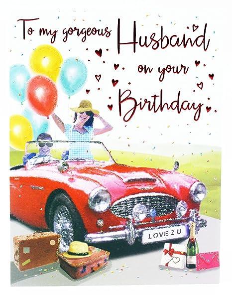 Biglietto Di Auguri Di Buon Compleanno A Gorgeous Marito Auto