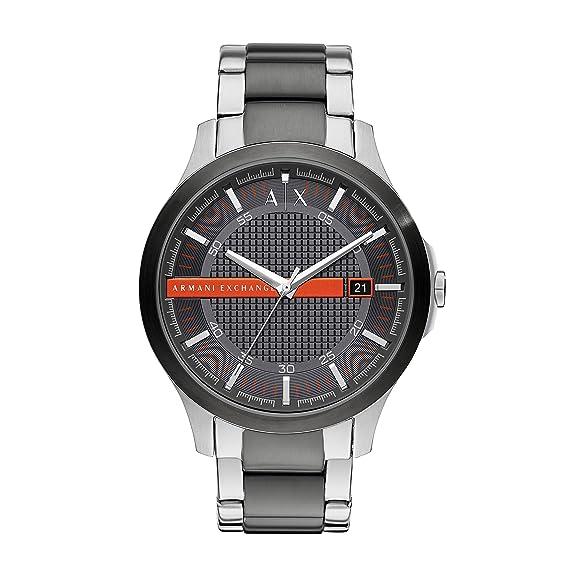 2b9bbc387038 Armani Exchange Reloj Analogico para Hombre de Cuarzo con Correa en Acero  Inoxidable AX2404  Amazon.es  Relojes