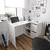 Habitdesign 008311A - Mesa Escritorio, Mueble de despacho, Modelo Adapta, Color Blanco Artik,…