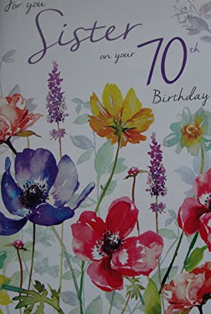 Sister 70th birthday card quality nice verse amazon office sister 70th birthday card quality nice verse bookmarktalkfo Image collections