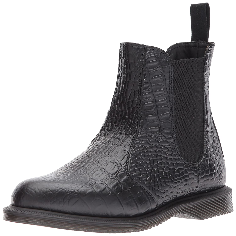 Dr. Martens Women's Flora Croc Chelsea Boot B01N4IXB3A 8 Medium UK (10 US)|Black