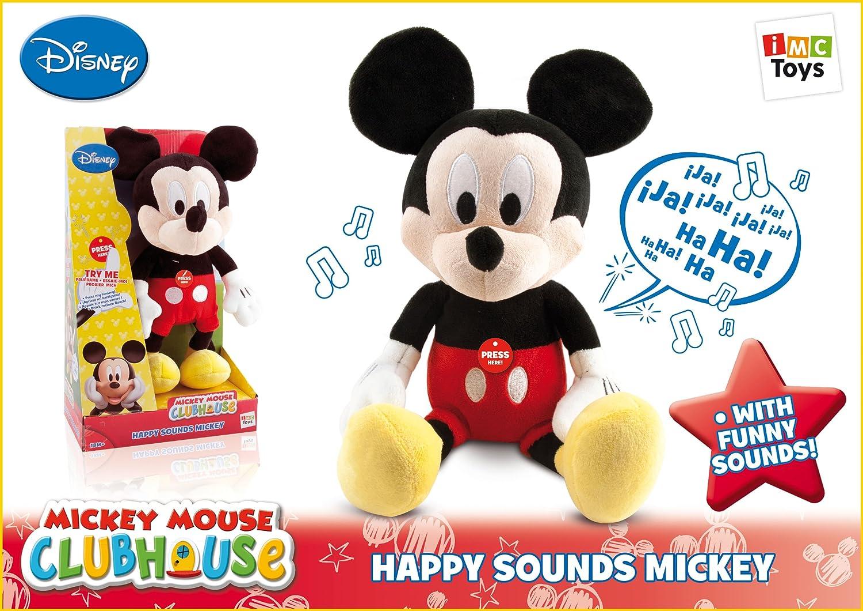 IMC Toys Disney - Peluche Happy Sounds Mickey, 12 x 20,5 x 34,5 cm (181106MM): Amazon.es: Juguetes y juegos