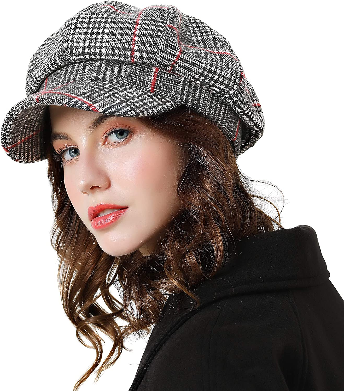 Sumolux Women Beret Newsboy Hat French Cotton Cap Classic Autumn Spring  Winter Hats at Amazon Women's Clothing store