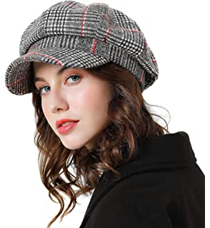 3291426396cb Sumolux Women Beret Newsboy Hat French Cotton Cap Classic Autumn Spring  Winter Hats