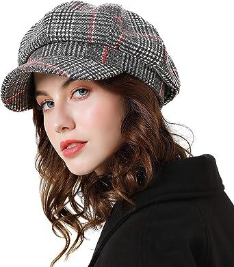 AET Cap Mens Spring Autumn Classic Beret Hat Newsboy Visor Cap