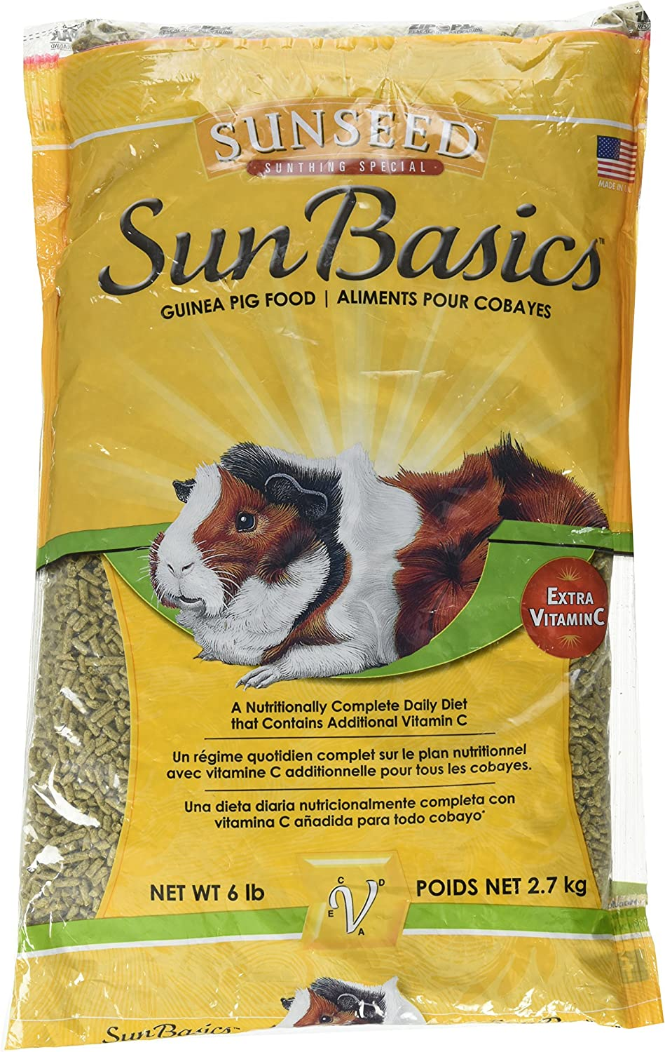 Sunseed Company Sunthing Special Sun Basics Guinea Pig Food, 6 Pound Bag