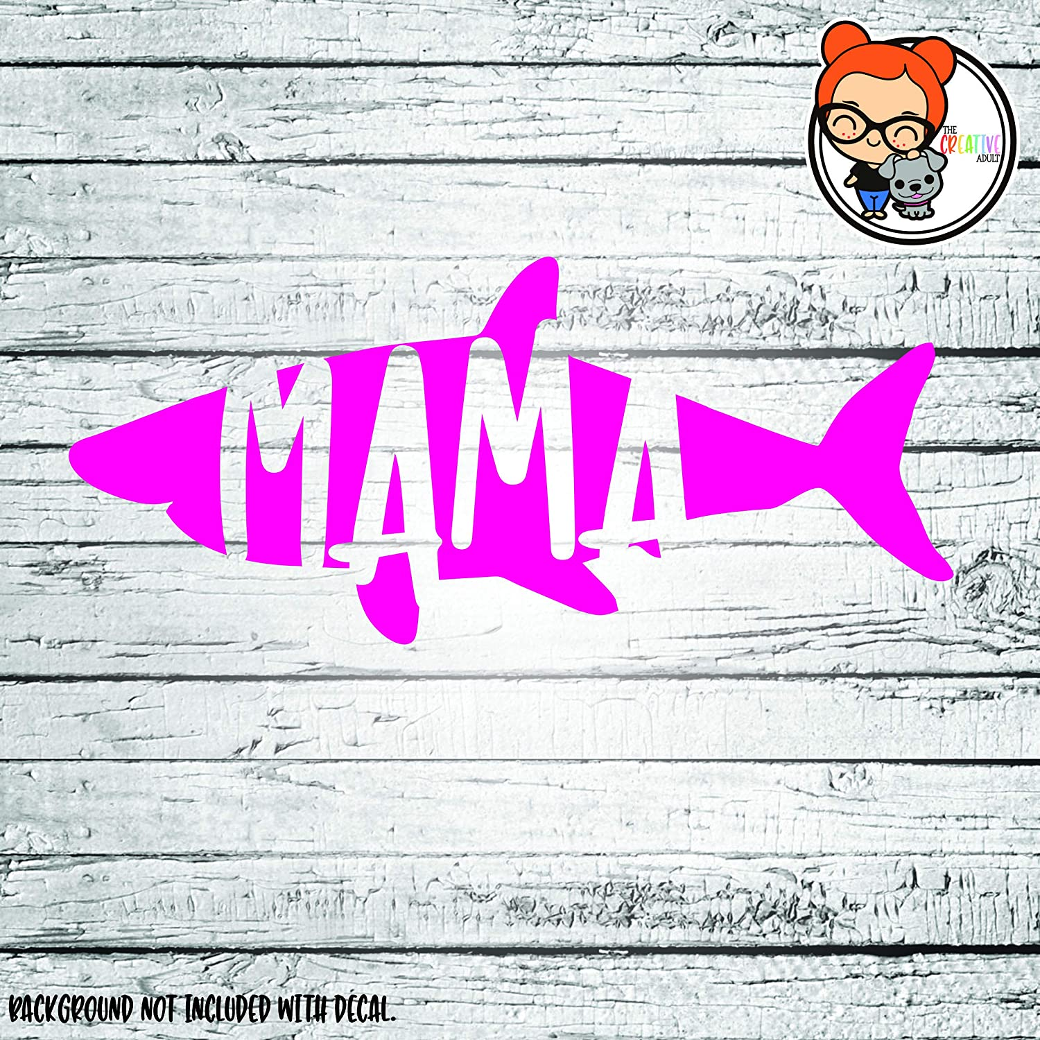 Amazon com mama shark vinyl die cut decal sticker for car laptop etc handmade