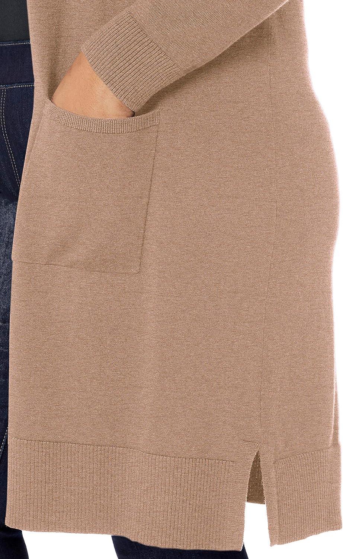 Essentials Plus Size Lightweight Longer Length Cardigan Sweater Donna