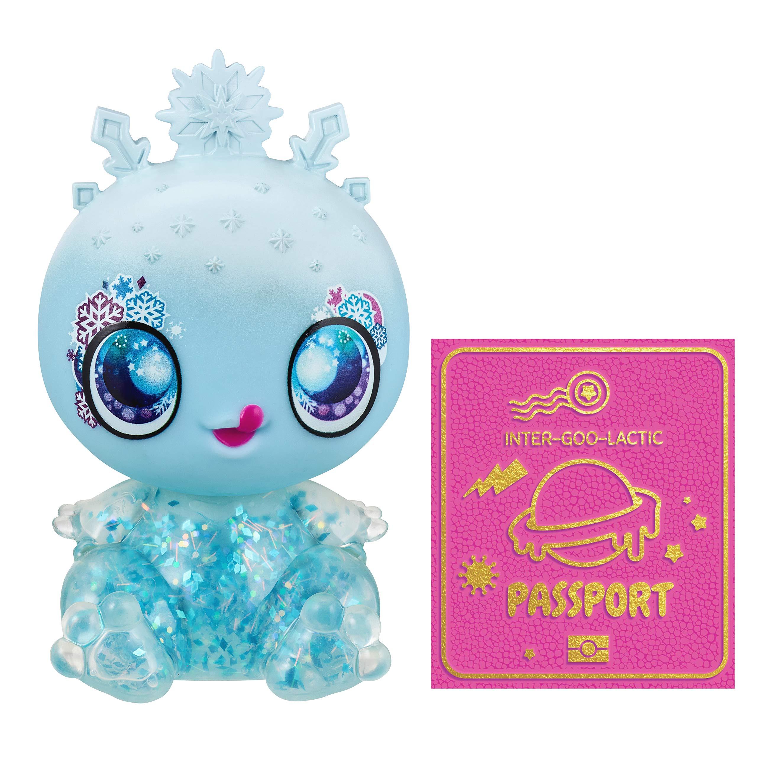 Goo Goo Galaxy - Snow Glow Goo Drop Doll, 5.5 inch Small Doll with Squishy Goo Filled Light-up Body