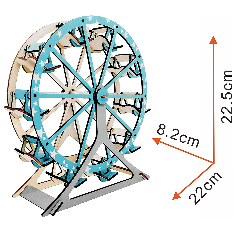 Amazon.com: iFeiFei Ferris Wheel 3D Puzzle Laser Wooden Model DIY ...