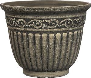 """Classic Home and Garden 9475-060 Umbria Planter, 12"""" Planter, Ivory Ash"""