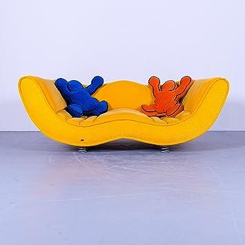 Amazon De Bretz Laola Hookipa Designer Stoff Sofa Gelb Dreisitzer