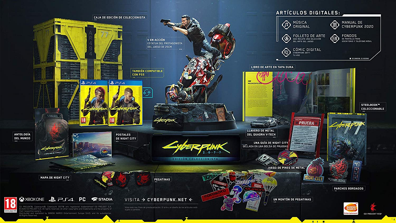Cyberpunk 2077 Collector's Edition PS4 Pegi uncut Version [PS4]:  Amazon.co.uk: PC & Video Games
