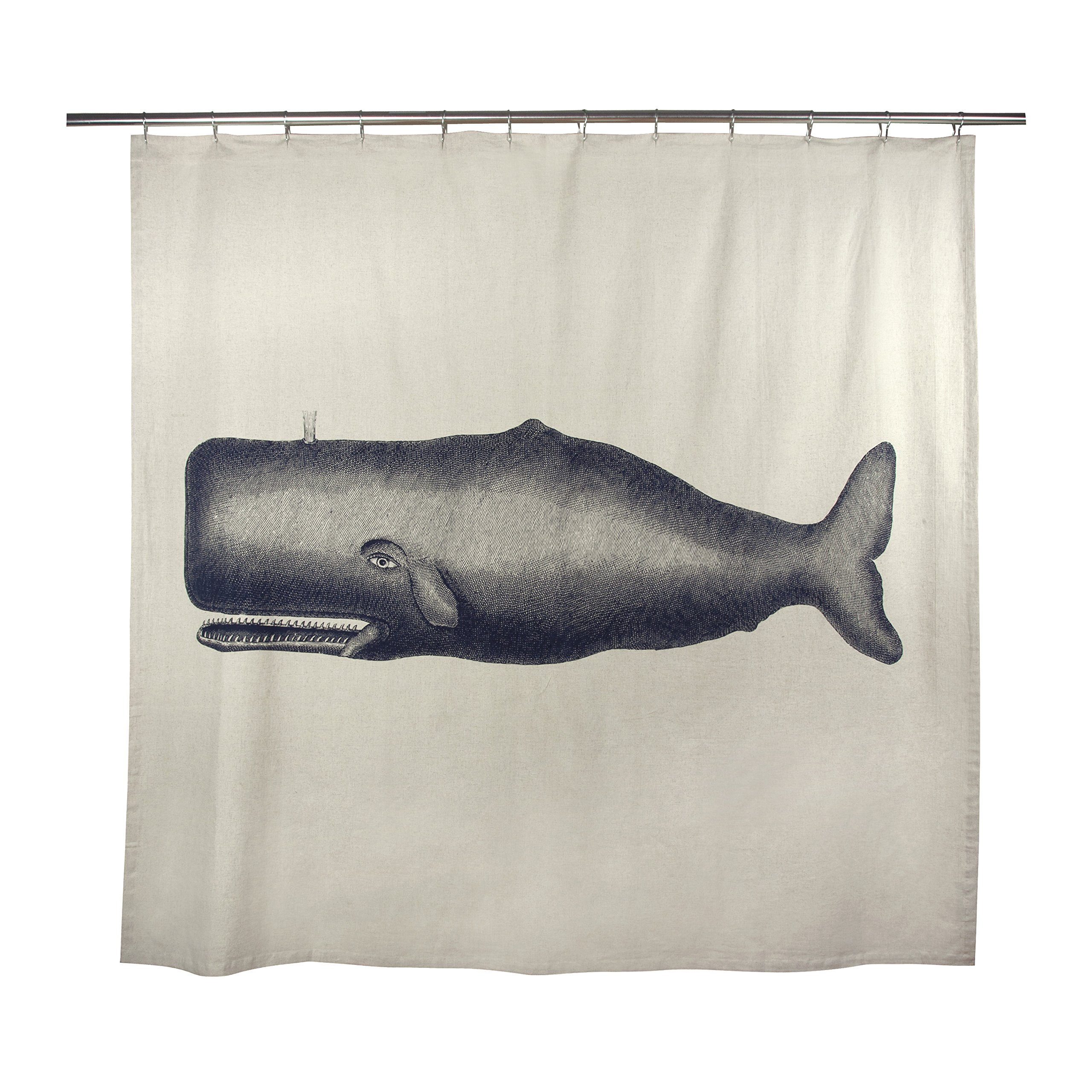 thomaspaul Moby Shower Curtain, Ink