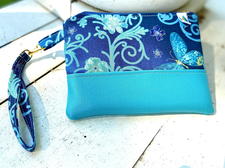 Essential Oil Bag Case Wristlet Clutch ~Credit Card Slots~cash slots~roller bottle pockets~leather accents~floral