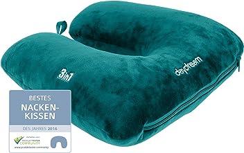 daydream: patentiertes 3-in-1 Nackenkissen mit Mikroperlen, verschiedene Farben (N-5506), Nackenhörnchen, Reisekissen, Nackenstützkissen