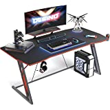 DESINO Gaming Desk 55 inch PC Computer Desk, Home Office Desk Gaming Table Z Shaped Gamer Workstation with Cup Holder…