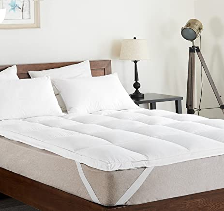 king luxury mattress topper plush overfilled down alternative featherbed mattress pad by cheer collection