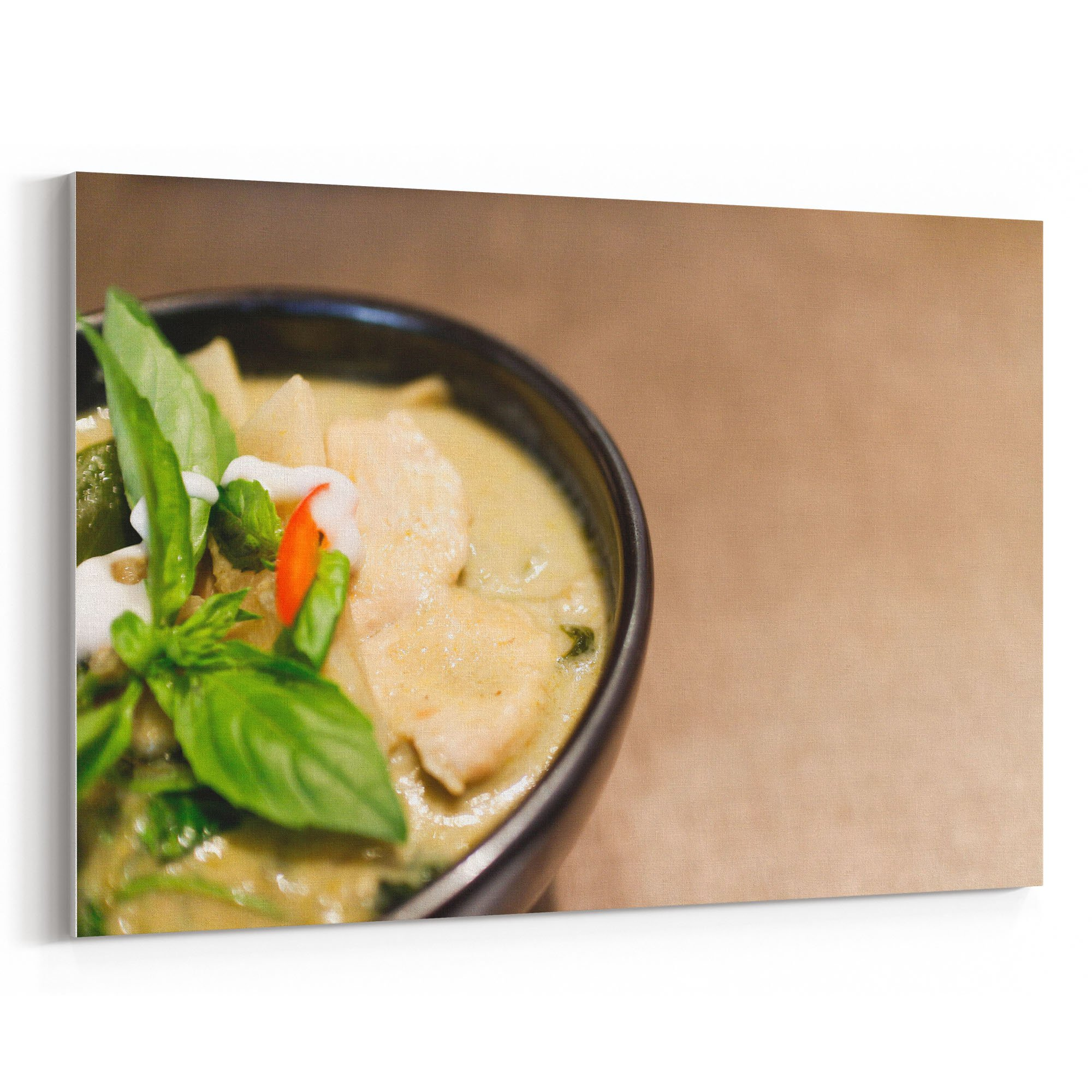 Westlake Art - Curry Thai - 12x18 Canvas Print Wall Art - Canvas Stretched Gallery Wrap Modern Picture Photography Artwork - Ready to Hang 12x18 Inch (2715-C061C) by Westlake Art