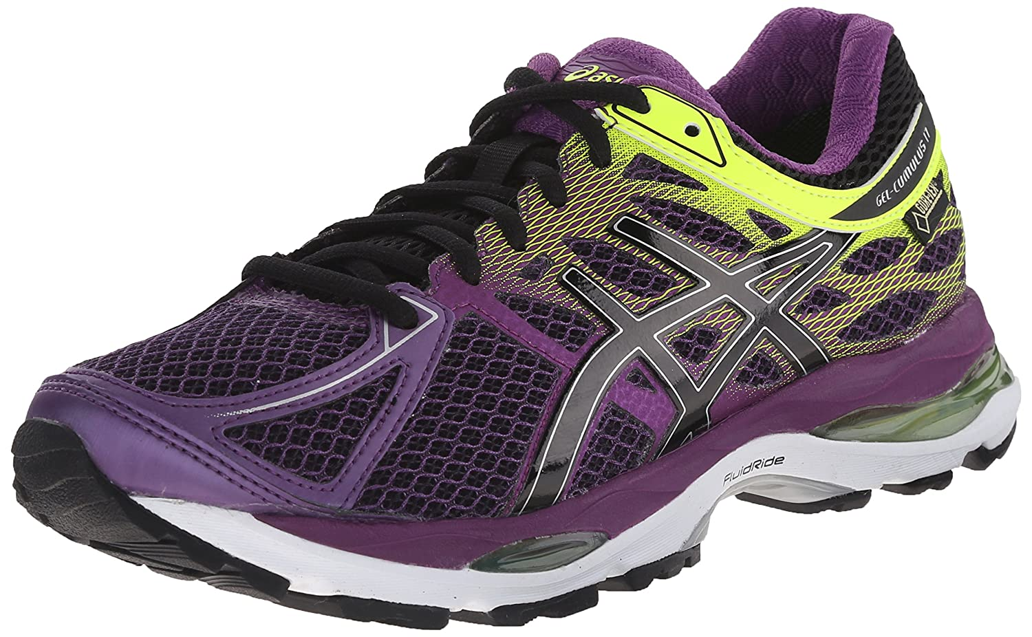 Plum Onyx Flash Yellow ASICS Women's Gel-Cumulus 17 G TX Running shoes