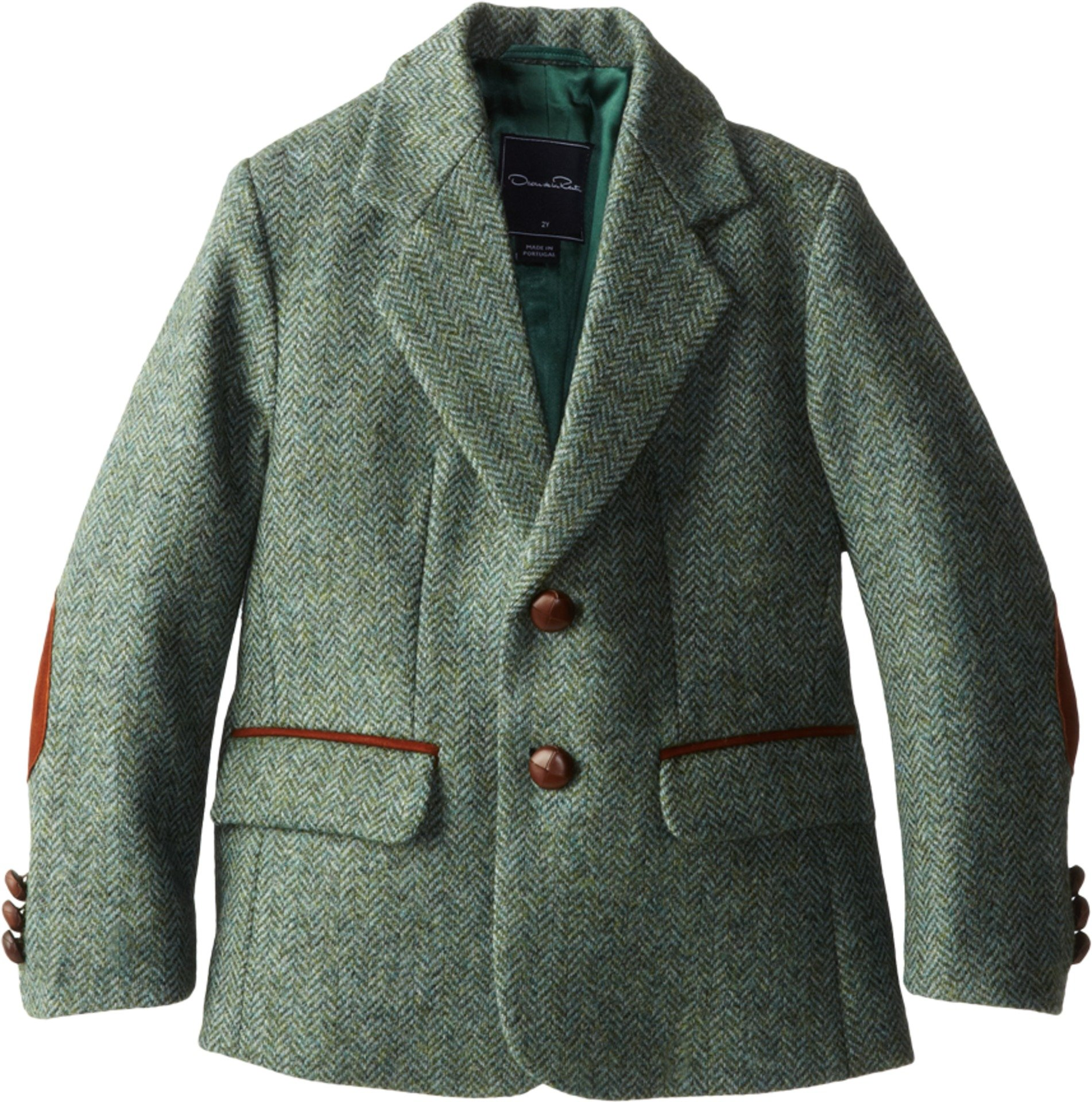 Oscar de la Renta Childrenswear Boy's Tweed Blazer (Toddler/Little Kids/Big Kids) Laurel Jacket 4 (Toddler) by Oscar de la Renta
