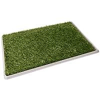 Fancy Pets Doggie Grass Tapete Entrenador Con Pasto Sintético, Tamaño Grande