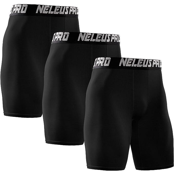 2ec1a02a Neleus Men's 3 Pack Performance Compression Shorts