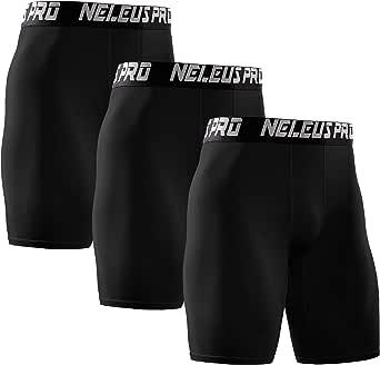 Neleus Men's Performance Compression Shorts 3 Pack
