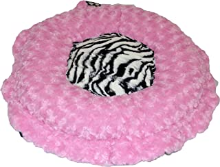 product image for BESSIE AND BARNIE Ultra Plush Cotton Candy/Zebra (Patch) Deluxe Dog/Pet Lily Pod Bed