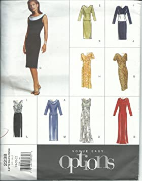 Vogue 2238 Sewing Pattern Misses Easy Dresses Size 18-22