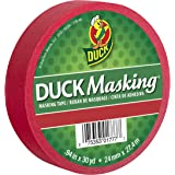 Duck Masking 240818 Red Color Masking Tape, .94-Inch by 30 Yards