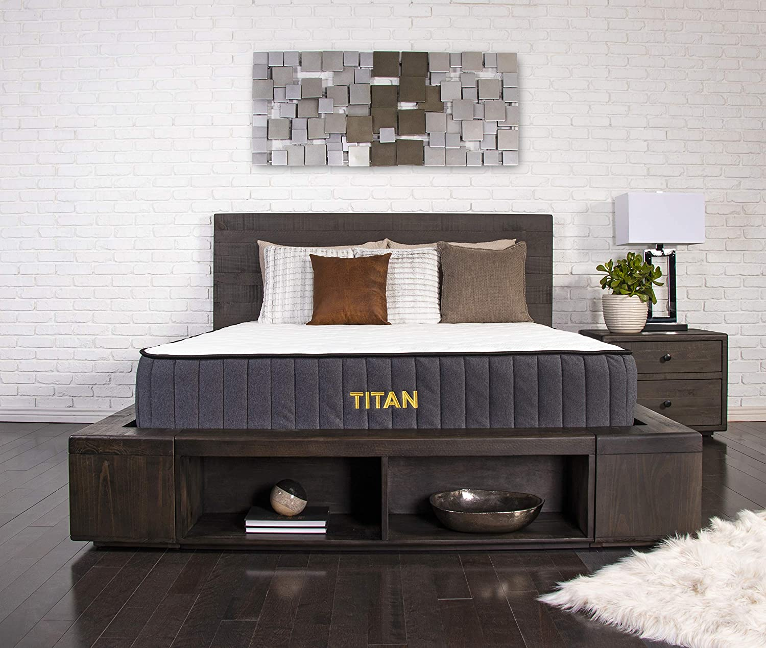 Brooklyn Bedding Titan 11-Inch TitanFlex Hybrid Mattress with TitanCaliber Coils, King