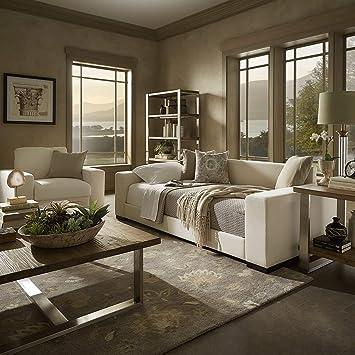 Amazon.com: Inspire Q Lionel Sofá moderno de tela de algodón ...