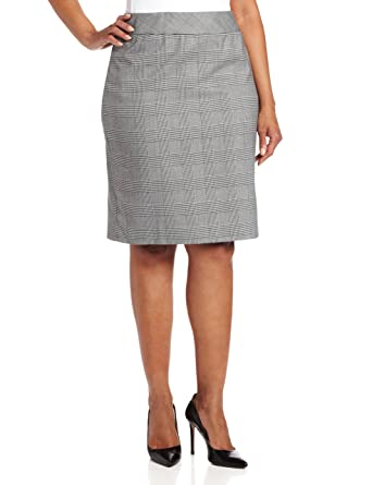 17dbb6215d5f7 Jones New York Women s Plus-Size Lucy Plaid Stripe Pencil Skirt ...