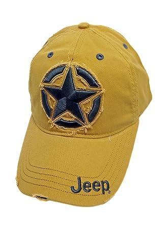 blue jeep baseball cap stone washed caps distressed star logo