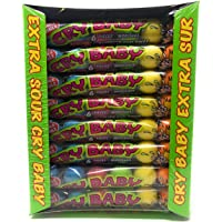 Original Dubble Bubble - Extra Sour Cry Baby - Assorted Gum Balls - 24 Packs of 6 Large Gumballs - 1.58 KG